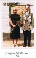1962, Königspaar Maria und Willi Kremer, SW094