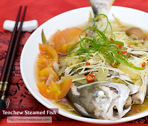 Teochew steamed fish recipe for Chinese steamed fish recipe