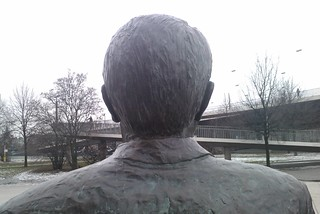 Image de Johannes Rau. statue düsseldorf denkmal johannesrau