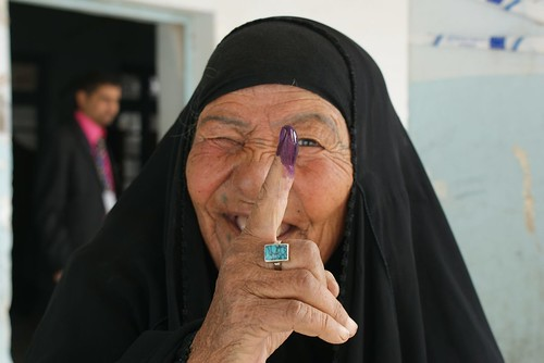 Proud Iraqi Women Vote in Nasiriyah