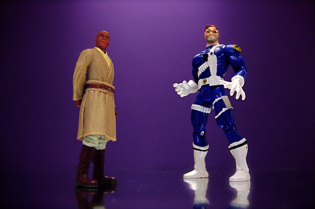 Mace Windu vs. Nick Fury (90/365)