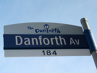 New Danforth Avenue Sign