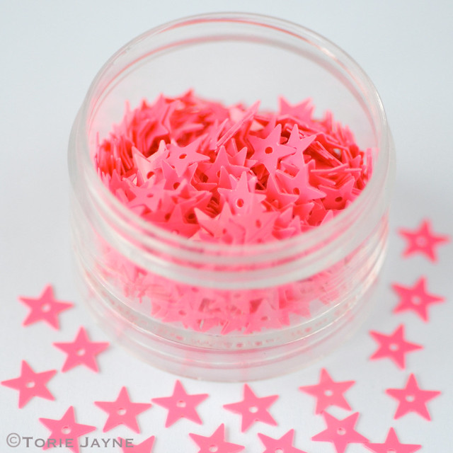 Pink star sequins