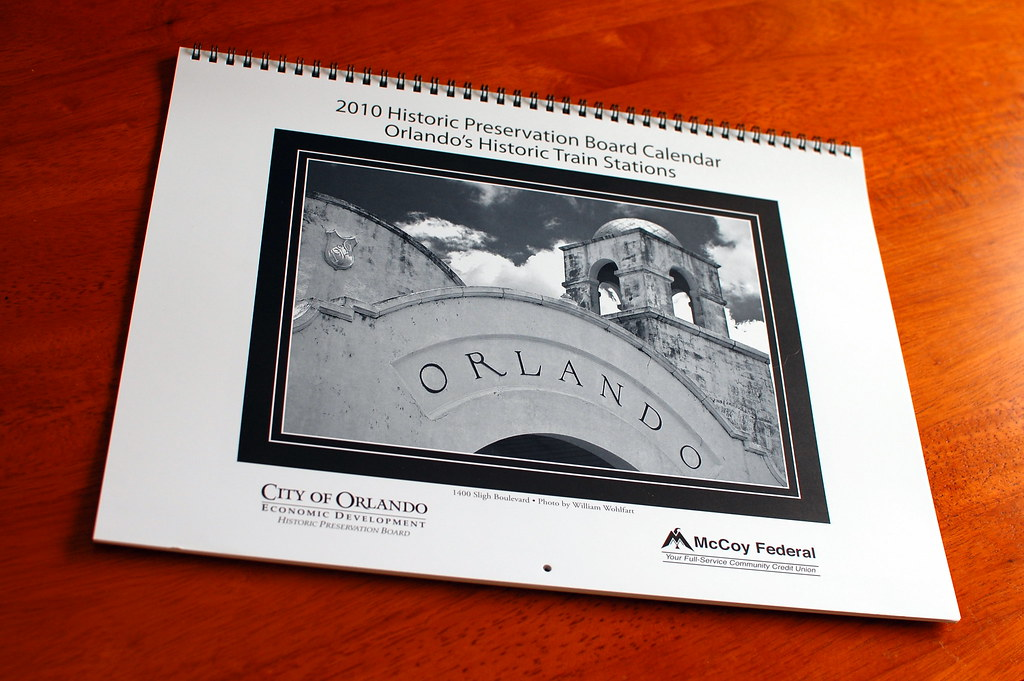 2010 Historic Preservation Board Calendar: Orlando's Historic Train Stations.