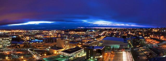 Tacoma, WA Aerial Panoramic