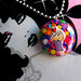gorgeous cupcake sprinkles button kawaii lolita style necklace by isewcute by isewcute