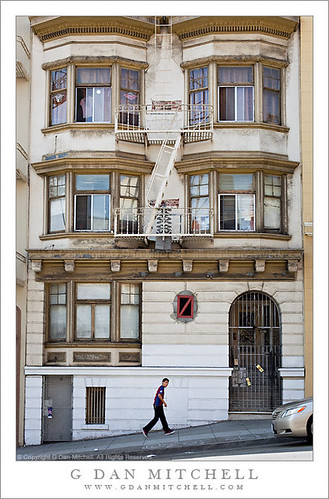 Boy Climbing Hill, San Francisco