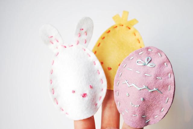 Easter Egg Finger Puppets