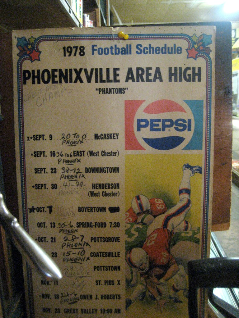 Phoenixville Area High 1978 Football Schedule