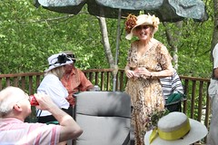 Linda Robb and others enjoy the deck