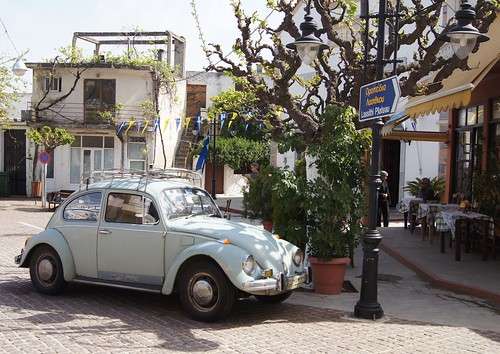 village scene in Μοχός - Mochos