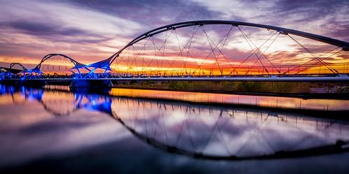 bridge sunset arizona lake color water clouds nikon wideangle tempe tempetownlake tempetownlakewestdam