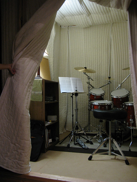 Soundproofing A Drum Room With Sound Absorption Sheets