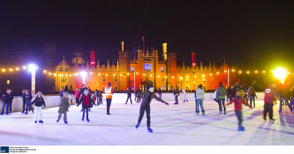BRITAIN - Hampton Court Palace Celebrity Ice Skating