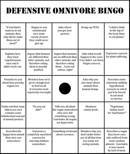 Defensive Omnivore Bingo