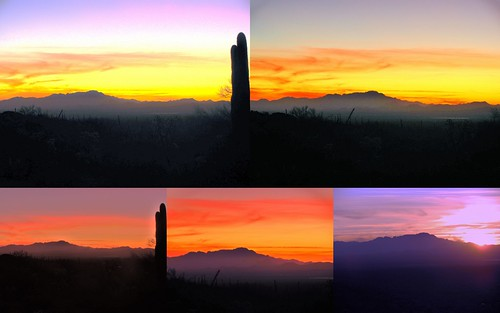 sunset arizona collage tucson gatespass