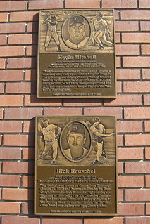 San Francisco: AT&T Park - San Francisco Giants Wall of Fame - Kevin Mitchell and Rick Reuschel