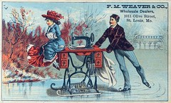 New Home Sewing Machine ad, late 19th century | by Missouri Historical Society