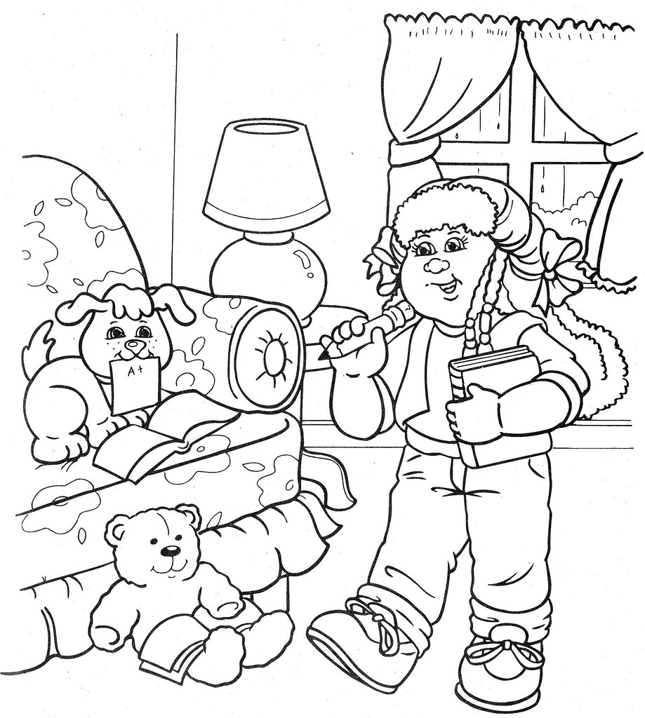 cabbage patch coloring pages - photo#13