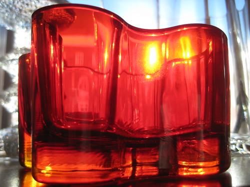 a red vase