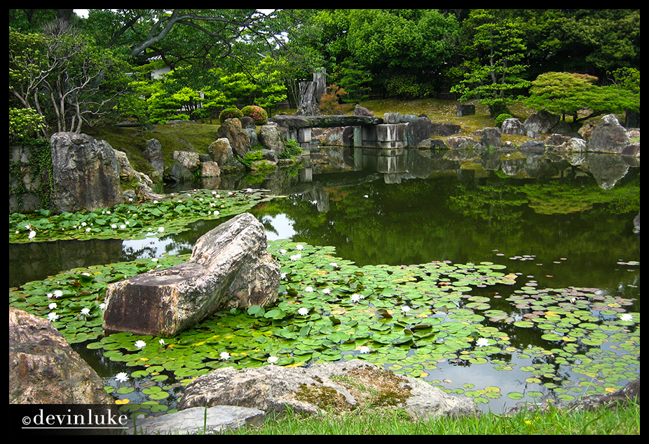 Nijo castle pond landscaping around castles and temples for Landscaping around a small pond