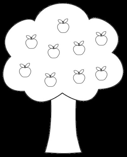 Honovylys apple tree clipart for Free printable apple tree coloring pages