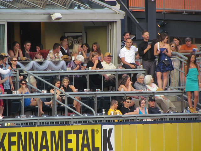 Someone actually had their wedding reception at this game at pnc park
