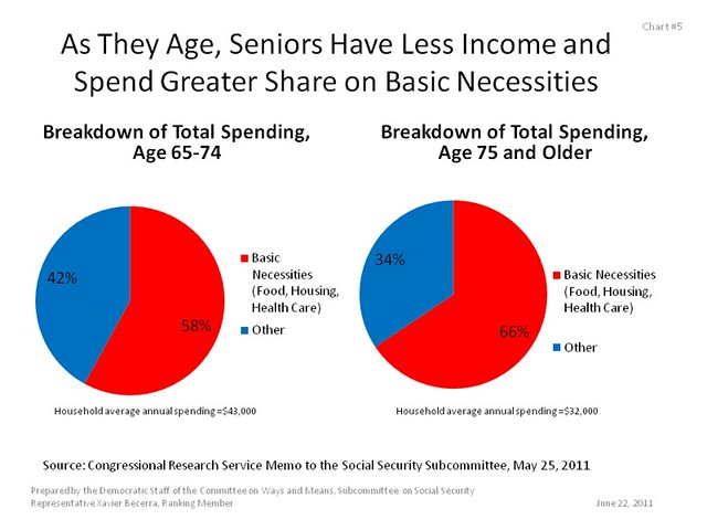 As They Age, Seniors Have Less Income and Spend Greater Share on Basic Necessities