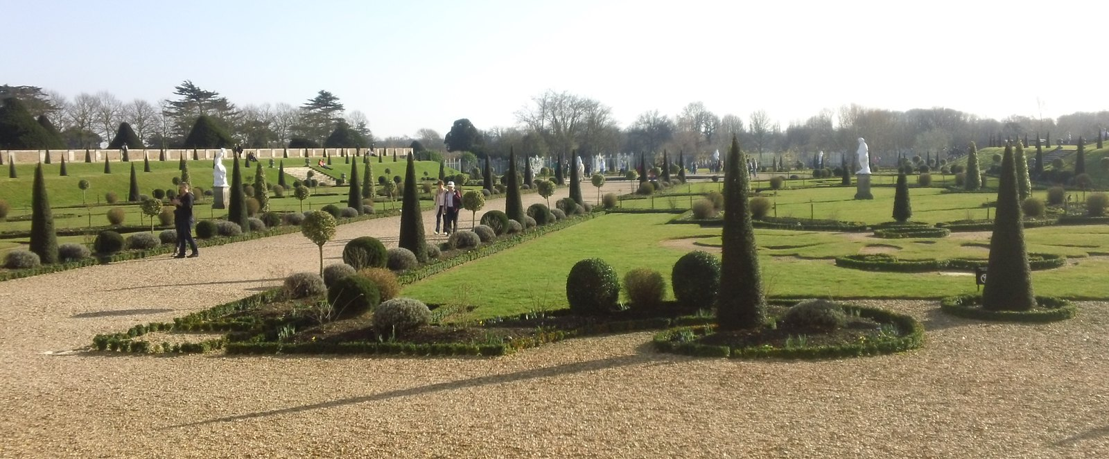 Hampton Court gardens Landscaped view