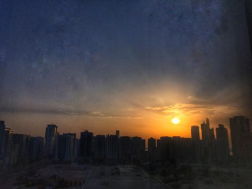 abudhabi sunset hdr iphone mobile snapseed cityscape landscape