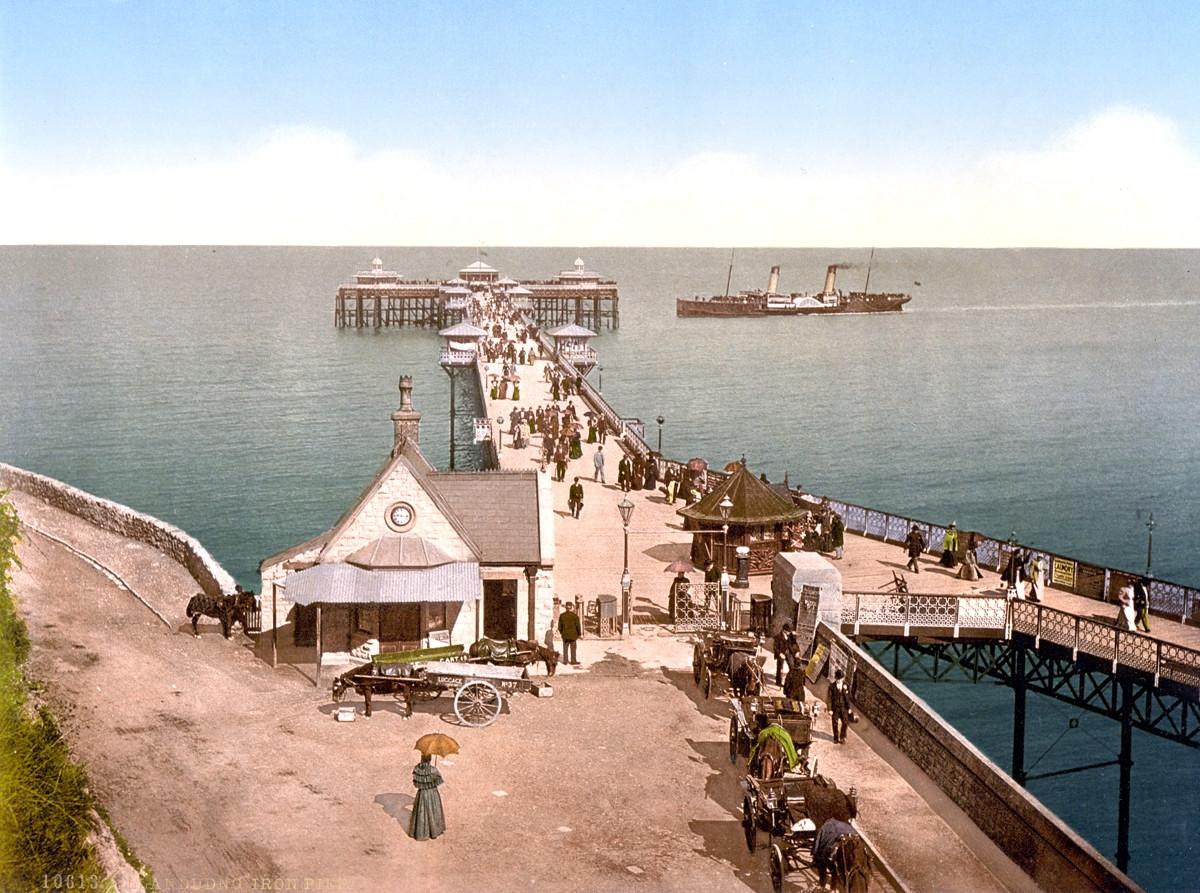 Llandudno Pier, Wales, 1895