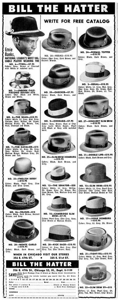 Bill the Hatter Advertisement - Ebony Magazine, November, 1959