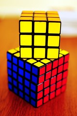 puzzle, rubik's cube, yellow, mechanical puzzle, toy,