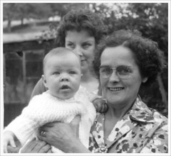 1962: me, my mum and great aunt Violet