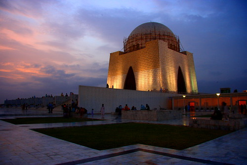 Natural And Artificial Lights On Mazar-E-Quaid