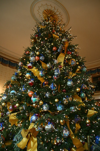 White House Christmas Tree in the Blue  Room.