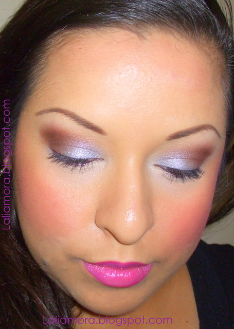 Silver and brown eyeshadow