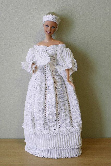 "Pretty Victorian Doll Dress Fashions for 15"" Dolls Crochet Patterns"