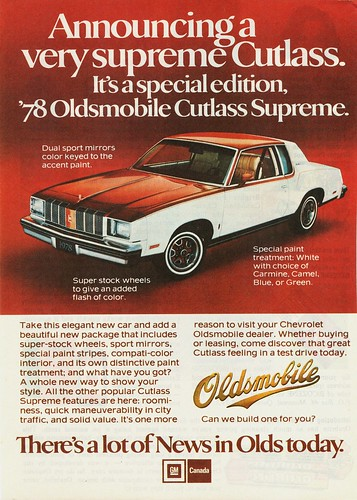 1978 Oldsmobile Cutlass Supreme Ad (Canada)