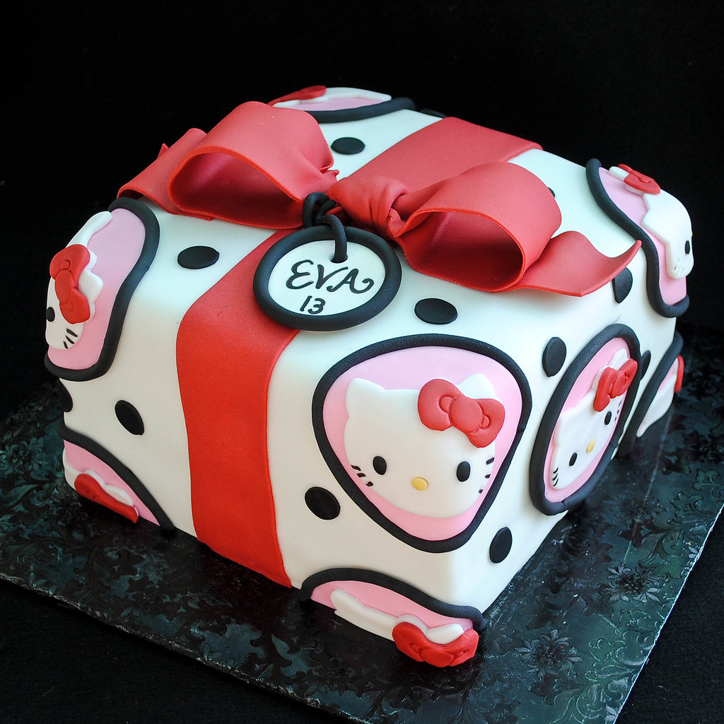 Hello Kitty Gift Cake  Flickr  Photo Sharing!