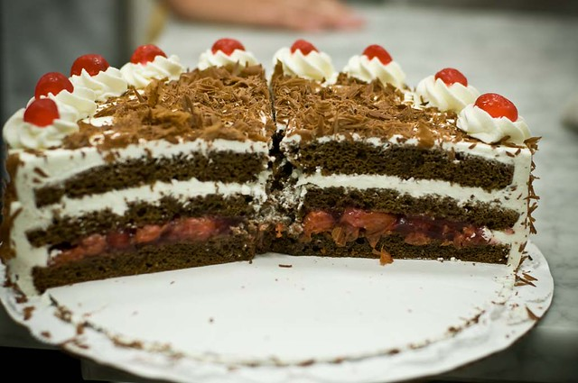 Black Forest Cherry Torte interior | Flickr - Photo Sharing!