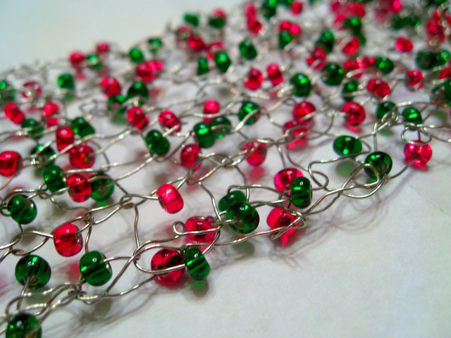 Knitting With Wire And Beads : Knitting with wire and beads flickr photo sharing