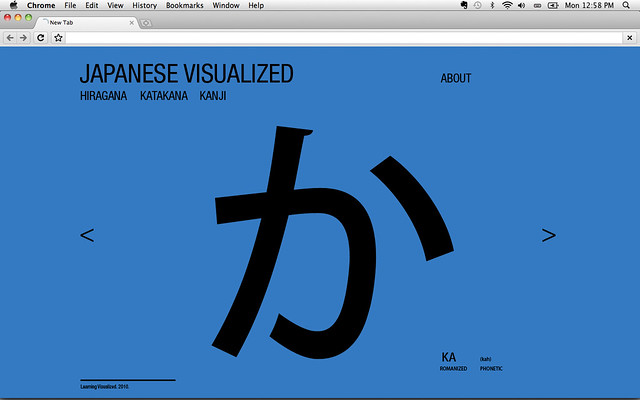 Web Design: Japanese Visualized. Mockup.