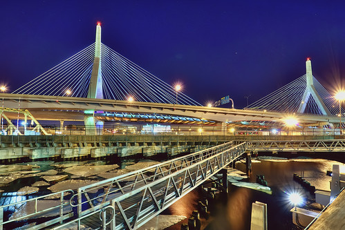 longexposure bridge ice boston night geotagged ma massachusetts charlesriver walkway memorialbridge hdr bunkerhill zakim i93 leonardpzakimbunkerhillmemorialbridge mudpig interstate93 stevekelley