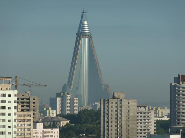 The huge Ryugyong Hotel, Pyongyang - North Korea