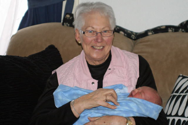 Great Grandma Throndson & Braden