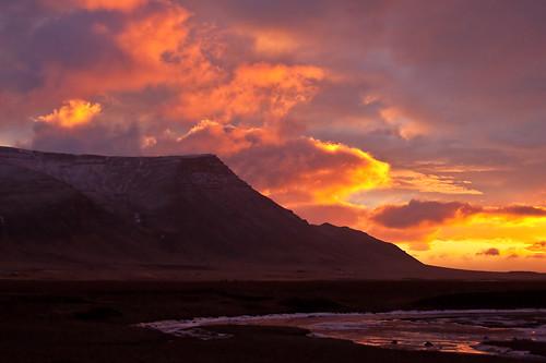 sunset iceland 2010 akrafjall sólsetur february2010 15022010
