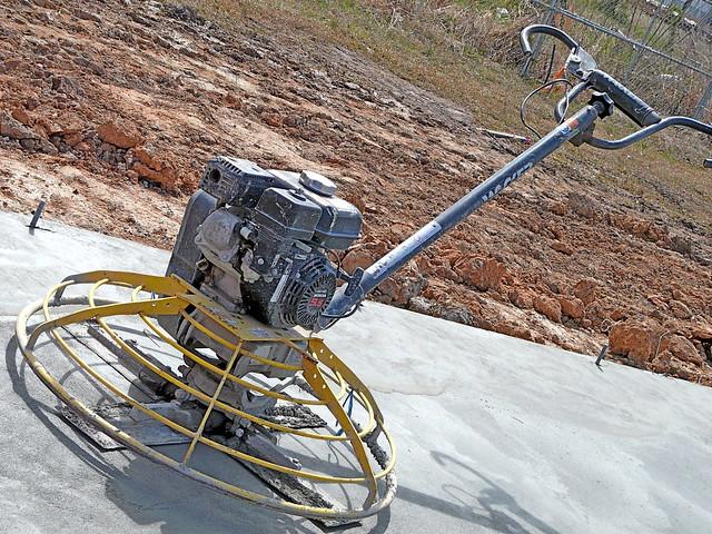 concrete finishing machine