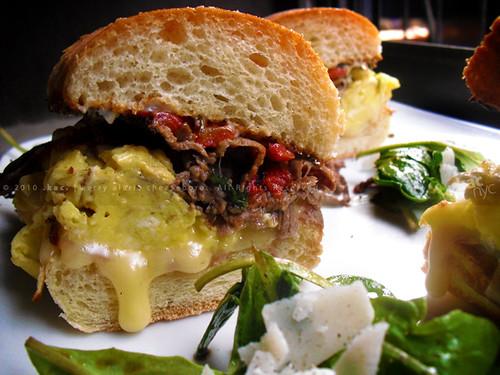 Roast Beef, Brie & Egg Sandwich | Arugula Salad with Shaved Parmesan ...