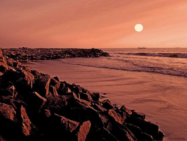 On the Rocks....Calicut beach